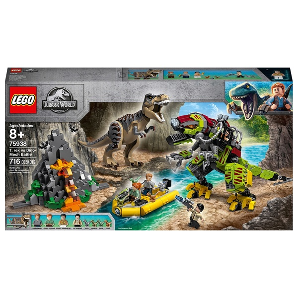 LEGO 75938 Jurassic World T. Rex vs Dino-Mech Battle Set
