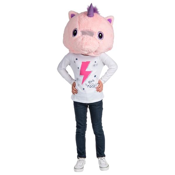 Plush Head Unicorn Mask