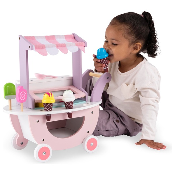 Squirrel Play Wooden Ice-Cream Trolley