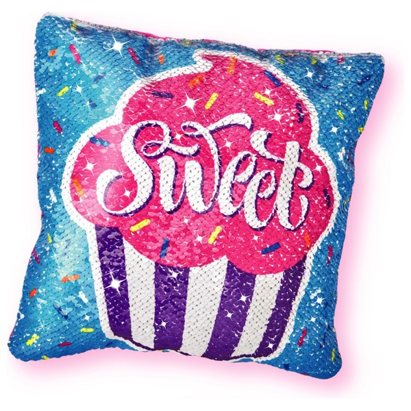 Shimmer n' Sparkle Make Your Own Sequin Pillow Cupcake