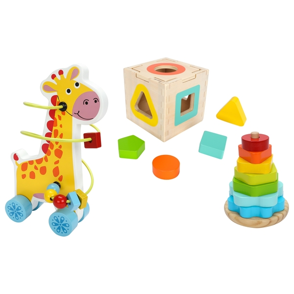 Squirrel Play 3 in 1 Wooden Gift Set