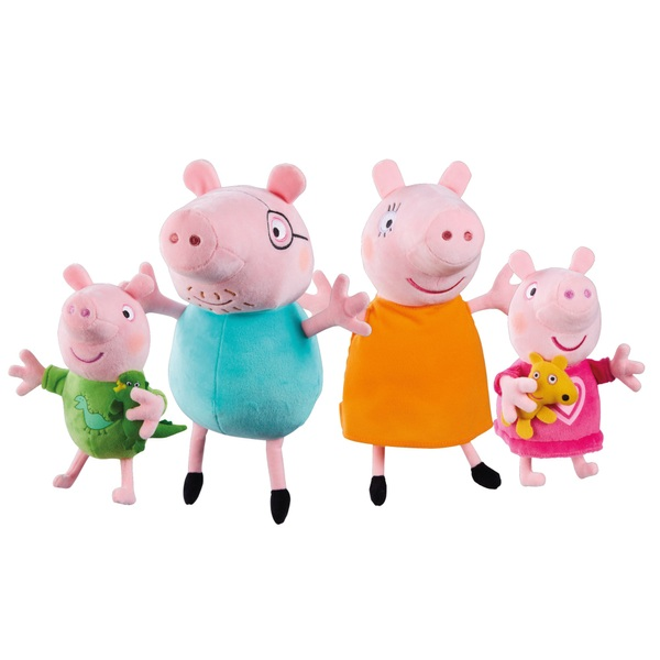 Peppa Pig 4 Pack Family Plush