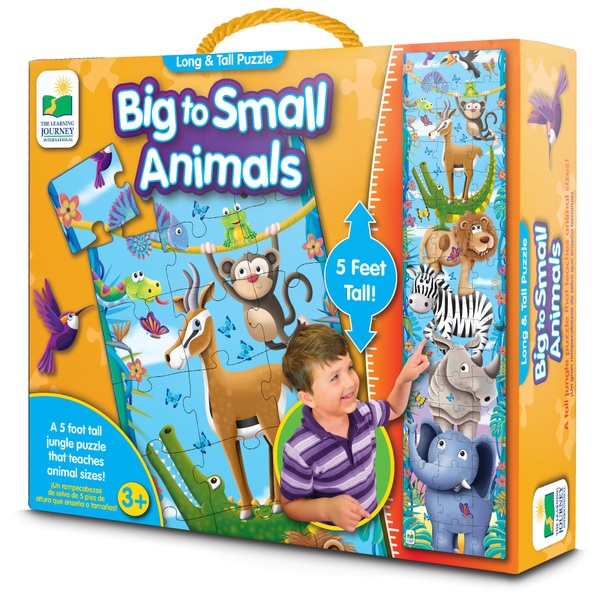 Long and Tall Puzzles - Big to Small Animals