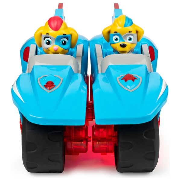 PAW Patrol Mighty Pups Super PAWs, Mighty Twins 2-in-1 Power Split Vehicle