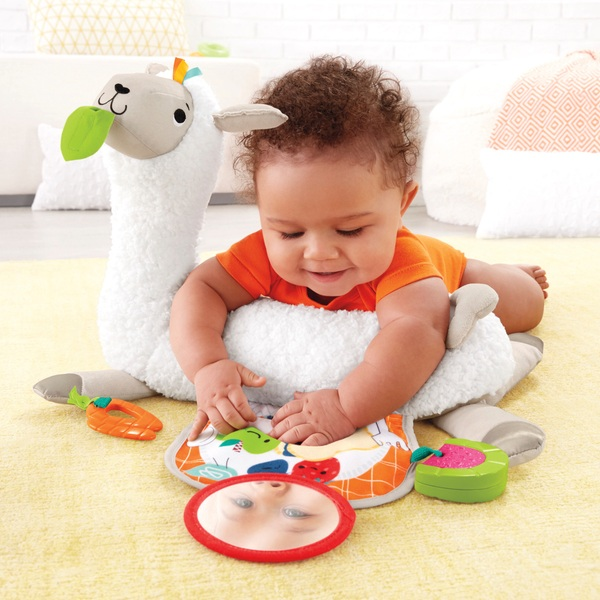 Fisher-Price Grow-with-Me Tummy Time Llama