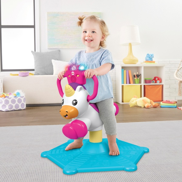 Fisher-Price Bounce and Spin Unicorn Ride On