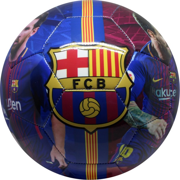 FC Barcelona Soccer Ball Messi in Blue and Red