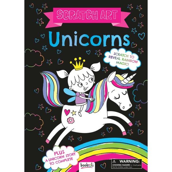 Scratch Art Fun Unicorns Book