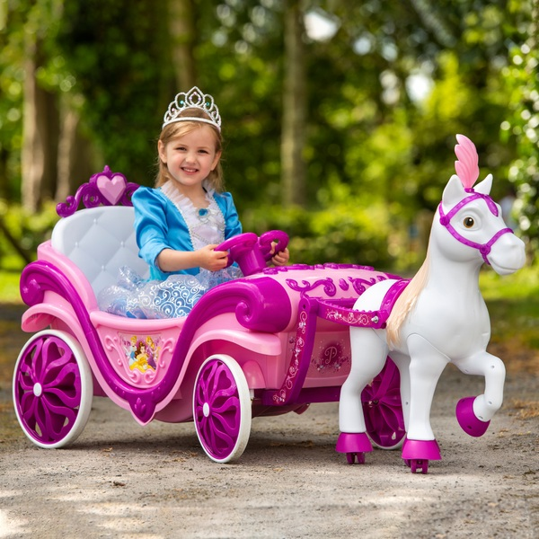 6V Disney Princess Royal Horse and Carriage Electric Ride On