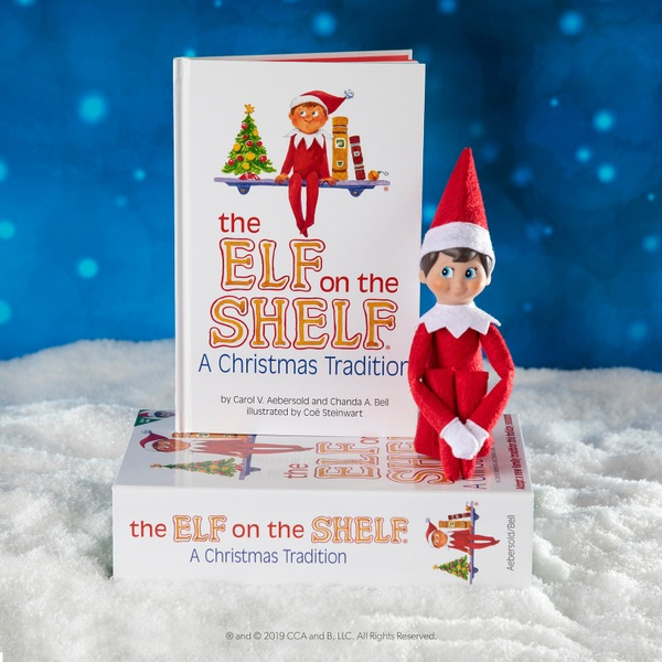 The Elf on the Shelf Christmas Tradition with Boy Scout