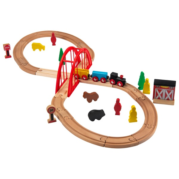 Squirrel Play 35 Piece Wooden Train Set