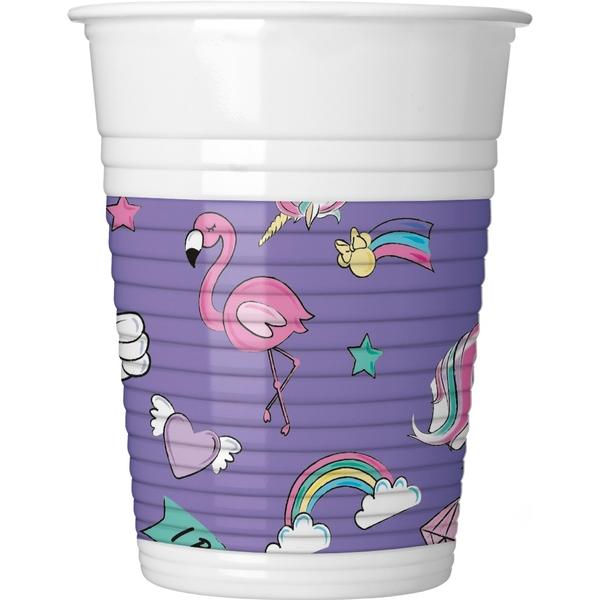 Partybedarfpartydeko - Minnie Mouse Einhorn Plastikbecher, 8 Stück - Onlineshop Smyths Toys