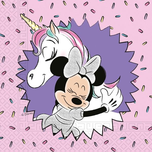Partybedarfpartydeko - Minnie Mouse 20 Servietten, Einhorn - Onlineshop Smyths Toys