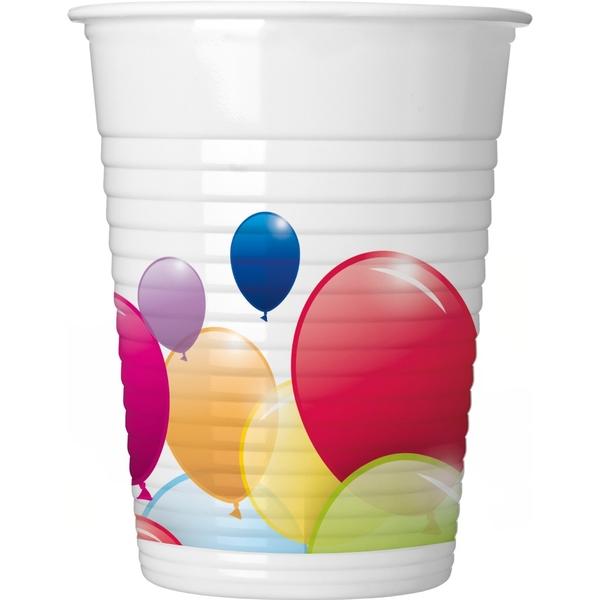 Partybedarfballons - Procos Flying Balloons, 8 Plastikbecher - Onlineshop Smyths Toys