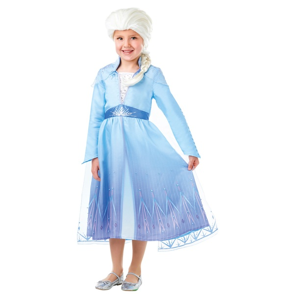Disney Frozen 2 Elsa Costume with Wig (5 to 6 years)