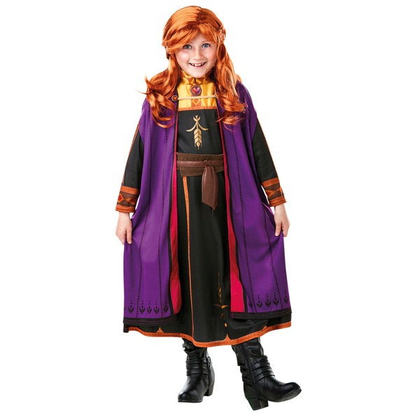 Disney Frozen 2 Anna Costume with Wig (5 to 6 years)