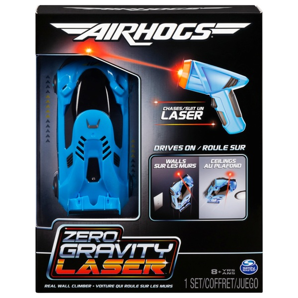 Remote Control Air Hogs Zero Gravity Laser Racer Blue Car
