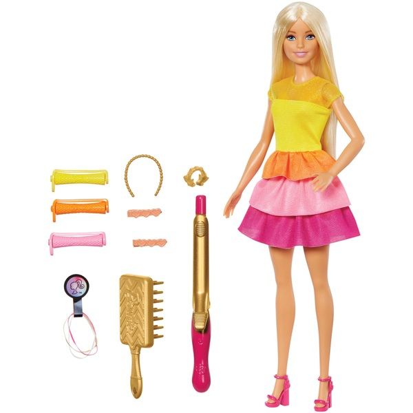 Barbie Ultimate Curls Doll and Playset, Blonde Hair, Girls Dolls
