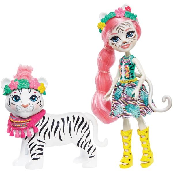 Enchantimals Tadley Tiger and Kitty WhiteTiger Dolls Set