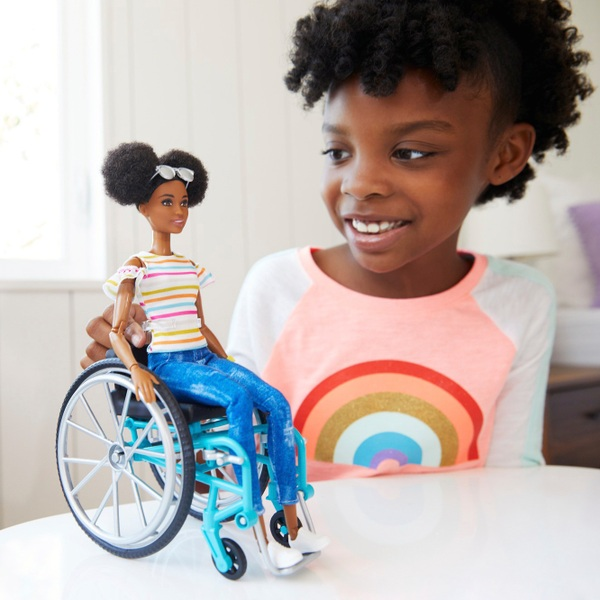 Barbie Wheelchair with Doll and Ramp