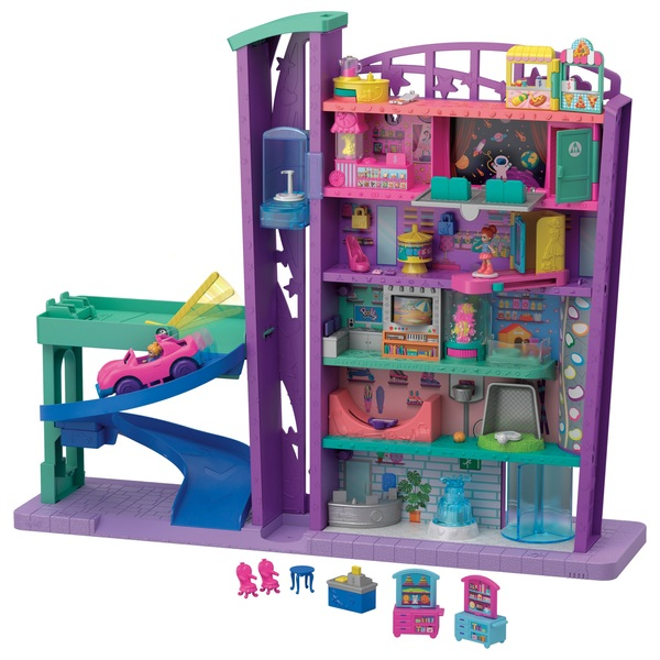 Polly Pocket Pollyville Mega Mall Doll Toy