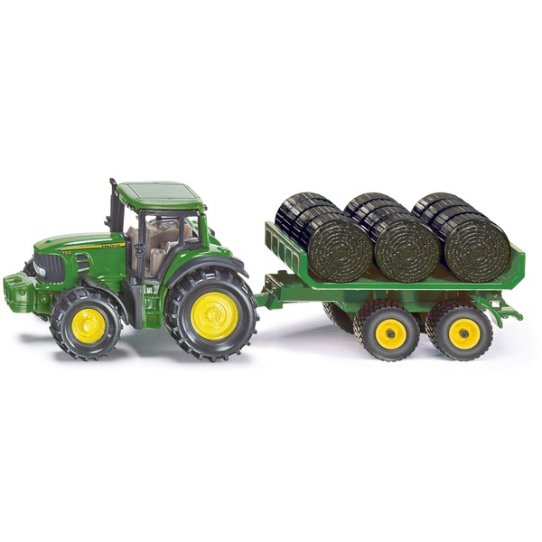 1:87 John Deere with Trailer & Bales
