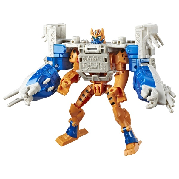 Transformers Cyberverse Spark Armour Cheetor Action Figure with Sea Fury Spark Armour vehicle