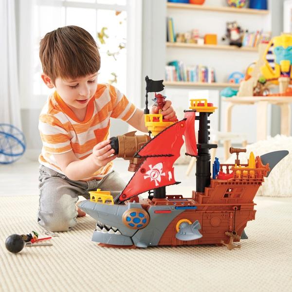 Imaginext Shark Bite Pirate Ship Playset
