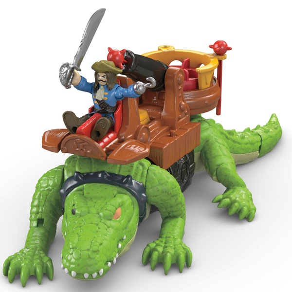 Imaginext Pirates Walking Croc and Pirate Hook Kid's Toy