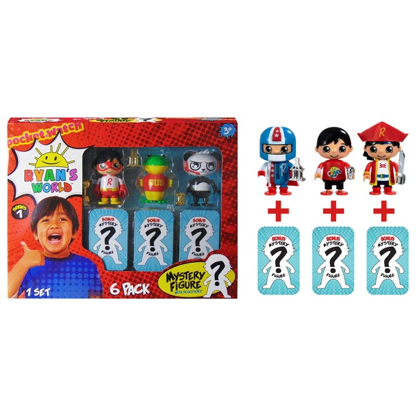 Ryan's World 6-Pack Collectible Mystery Figure Set Assortment
