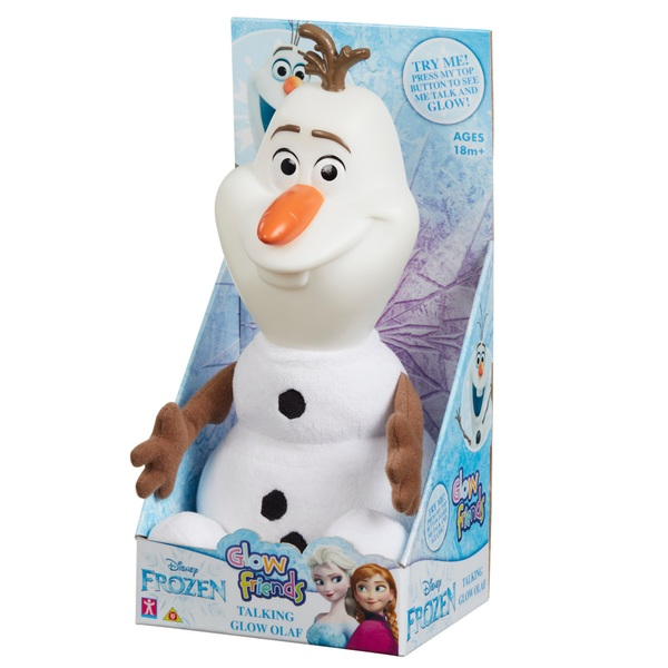 Disney Frozen Glow Friends Talking Olaf Figure
