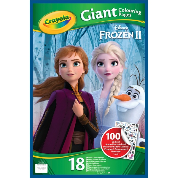 Crayola Disney Frozen 2 Giant Colouring Pages With Stickers