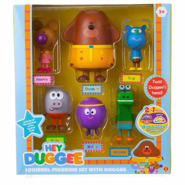 Hey Duggee Squirrels and Duggee 6 Figurine Gift Pack