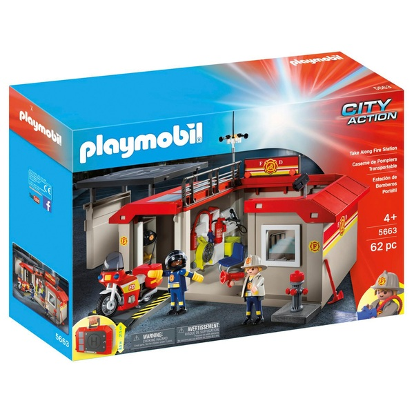 Playmobil 5663 City Action Take Along Fire Station