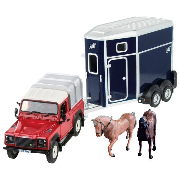 Britains 1:32 Scale Land Rover Horse Set
