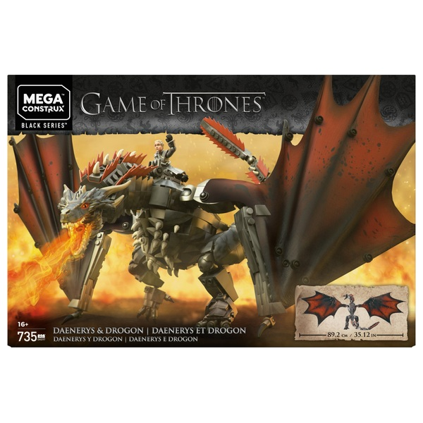 Mega Construx Game of Thrones Daenerys and Drogon Playset