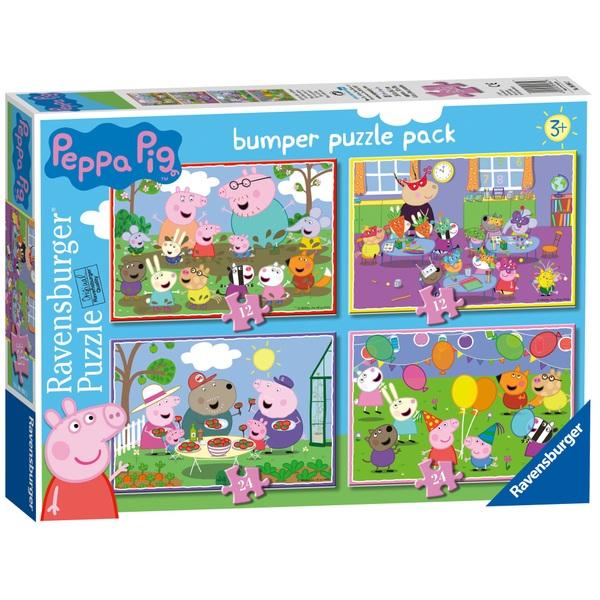 Ravensburger Peppa Pig: 2 x 12pc, 2 x 24pc piece Bumper Puzzle Pack
