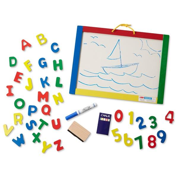 Melissa And Doug Magnetic Chalk Dry Erase Board Smyths Toys Ireland