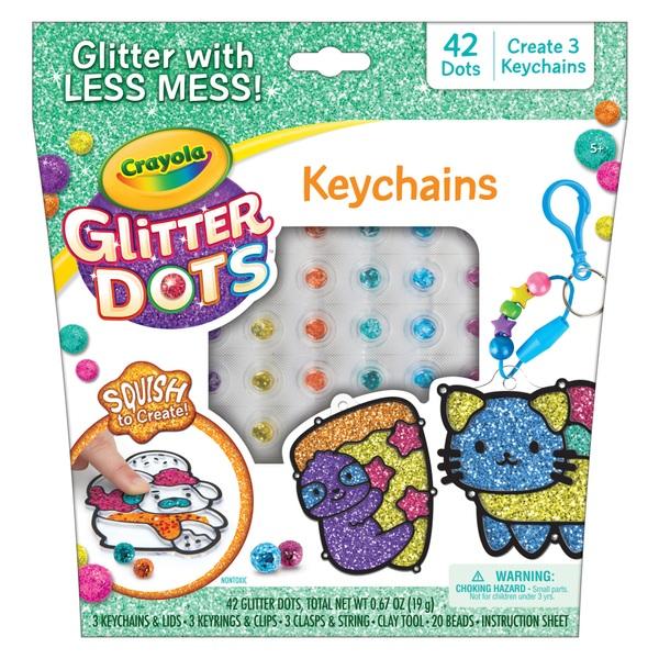 Crayola Glitter Dots Sparkle Friends Keychain