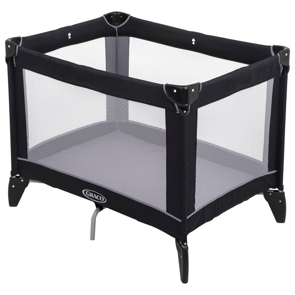 Graco Compact Travel Cot Black/Grey