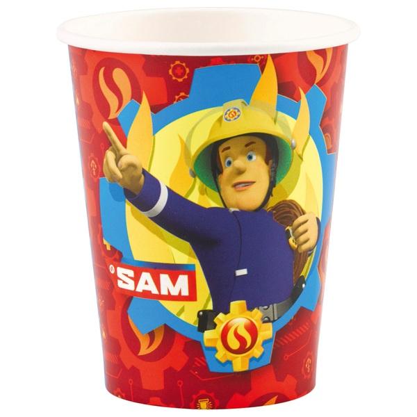 Partybedarfpartydeko - Feuerwehrmann Sam 8 Becher - Onlineshop Smyths Toys