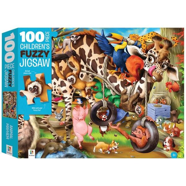 Animal Mayhem Fuzzy 100 Piece Jigsaw