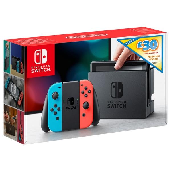 Nintendo Switch Neon with £30 eShop Credit