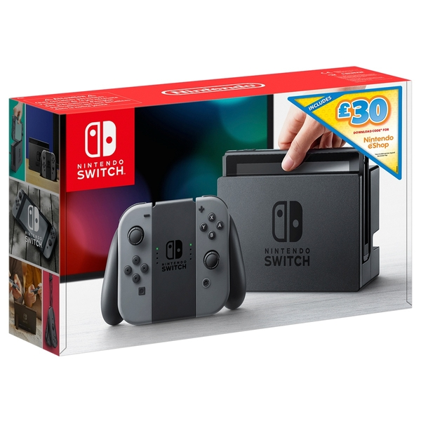 Nintendo Switch Grey with £30 eShop Credit