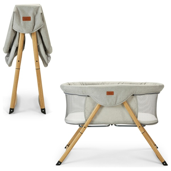 Baby Elegance Kangu Foldable Crib - Beach Wood