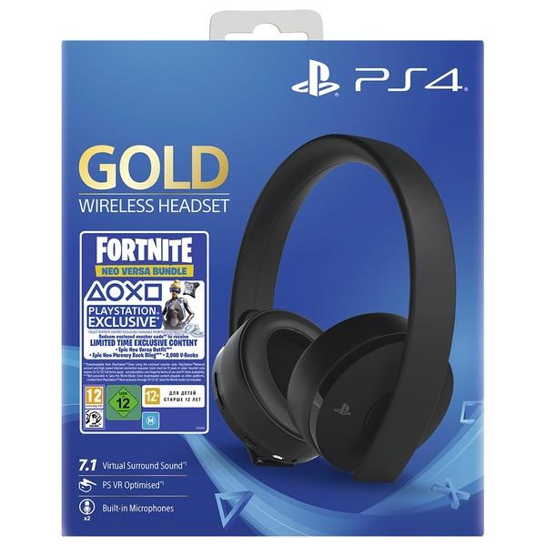 Sony Gold Wireless Headset Fortnite Neo Versa Bundle