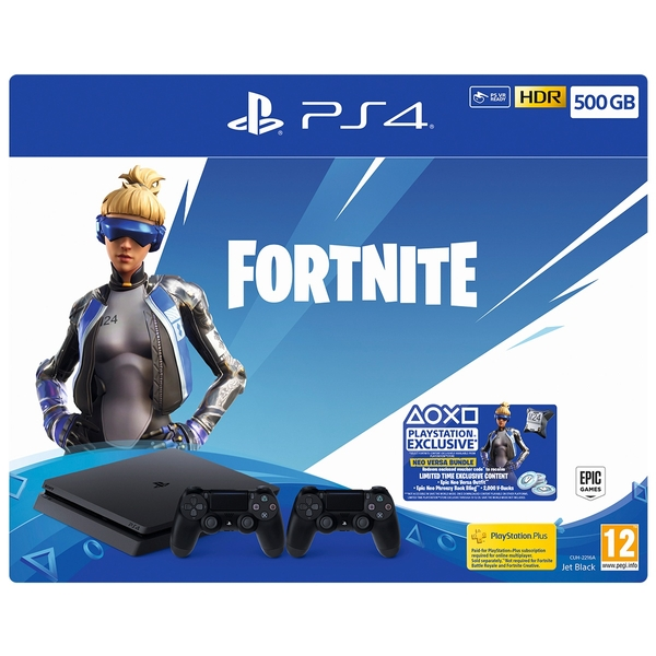 PS4 500GB Fortnite Neo Versa Bundle With Second Dualshock 4 Controller