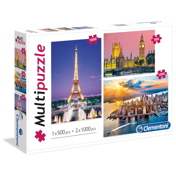 Clementoni Multipack Landscape Puzzles (One 500 and Two 1000 Piece)