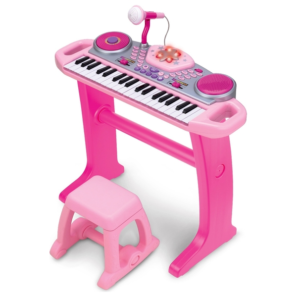 Big Steps Groove Rockstar Keyboard Pink