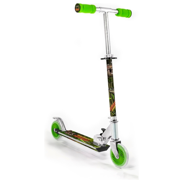 Ozbozz Dinosaur Expedition Light Up Wheels Inline Scooter